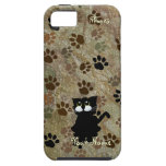 Caso del iPhone 5 del gato negro iPhone 5 Case-Mate Cárcasas