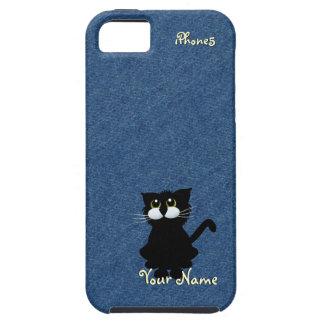 Caso del iPhone 5 del gato negro iPhone 5 Protector
