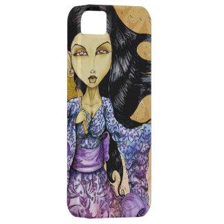 Caso del iPhone 5 del geisha de la lluvia Funda Para iPhone SE/5/5s