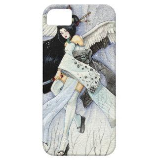 Caso del iPhone 5 del geisha de la nieve y de las  iPhone 5 Cárcasa