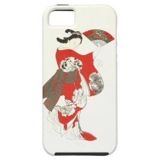 Caso del iPhone 5 del geisha del baile de Kawanabe iPhone 5 Protectores
