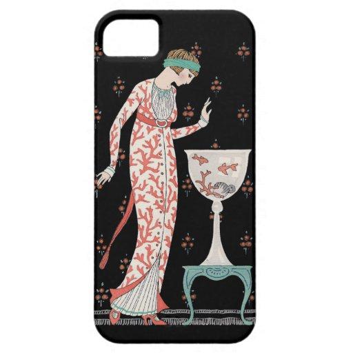 Caso del iPhone 5 del Goldfish de George Barbier iPhone 5 Carcasas