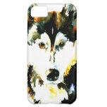Caso del iPhone 5 del husky siberiano de la acuare
