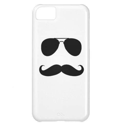 Caso del iPhone 5 del individuo del bigote Funda Para iPhone 5C