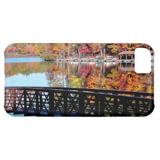 Caso del iphone 5 del lago autumn funda para iPhone 5C