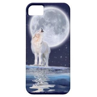 Caso del iPhone 5 del lobo ártico del grito y de iPhone 5 Funda