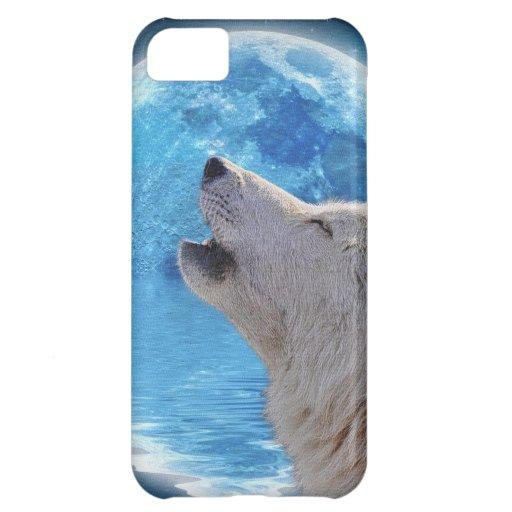 Caso del iPhone 5 del lobo ártico del grito y de l Funda Para iPhone 5C