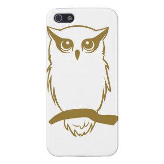 Caso del iPhone 5 del logotipo del búho de los mie iPhone 5 Funda
