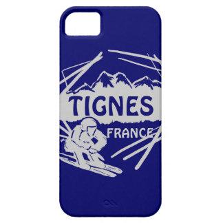 Caso del iphone 5 del logotipo del esquí del gris iPhone 5 carcasas