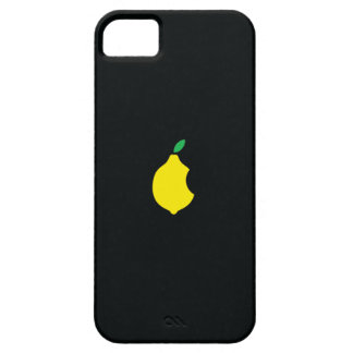 caso del iphone 5 del logotipo del limón funda para iPhone 5 barely there