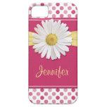 Caso del iPhone 5 del lunar del rosa de la margari iPhone 5 Protector