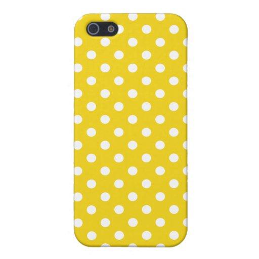 Caso del iPhone 5 del lunar en amarillo de la frut iPhone 5 Protector