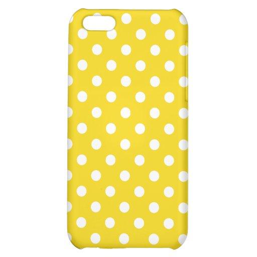 Caso del iPhone 5 del lunar en amarillo de la frut