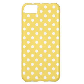 Caso del iPhone 5 del lunar en amarillo del ánimo Funda iPhone 5C