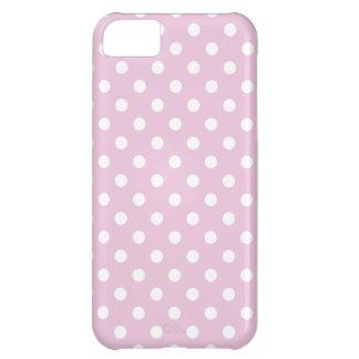 Caso del iPhone 5 del lunar en rosa dulce de la Funda Para iPhone 5C