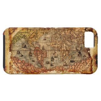 Caso del iPhone 5 del mapa de Viejo Mundo del Funda Para iPhone SE/5/5s