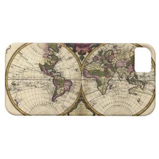Caso del iPhone 5 del mapa del mundo del vintage iPhone 5 Funda