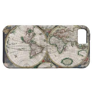 Caso del iPhone 5 del mapa del mundo del vintage Funda Para iPhone SE/5/5s