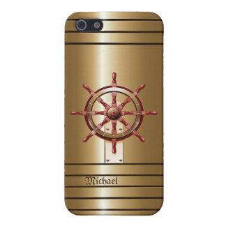 Caso del iPhone 5 del marinero de oro del timón iPhone 5 Carcasas