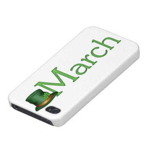 Caso del iPhone 5 del mes del nacimiento de marzo iPhone 4 Protector