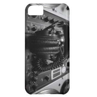 Caso del iPhone 5 del mezclador y de los auricular
