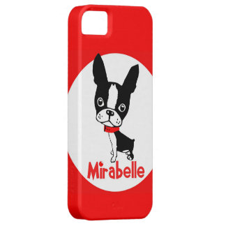 Caso del iphone 5 del mirabel de Boston Terrier iPhone 5 Carcasa