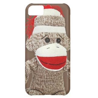 caso del iphone 5 del mono del calcetín