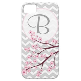 Caso del iPhone 5 del monograma de la flor de cere iPhone 5 Carcasa