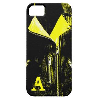 Caso del iPhone 5 del monograma del amarillo de la iPhone 5 Fundas