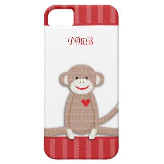 Caso del iPhone 5 del monograma del mono del calce iPhone 5 Carcasa