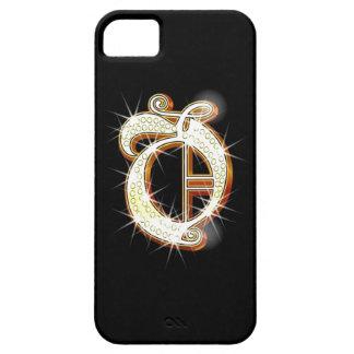 Caso del iPhone 5 del monograma O de Bling iPhone 5 Carcasas