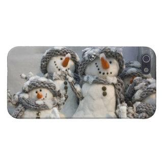 Caso del iPhone 5 del muñeco de nieve del navidad iPhone 5 Carcasa