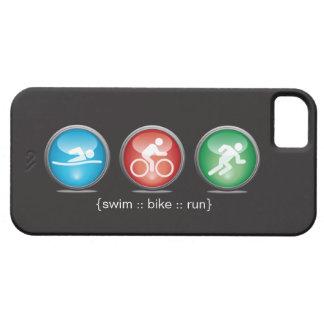 Caso del iPhone 5 del Nadada-Bici-Run del iPhone 5 Fundas