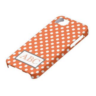 Caso del iPhone 5 del naranja y del blanco del lun iPhone 5 Protectores