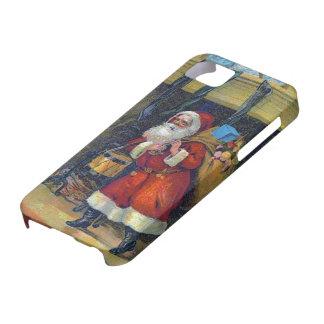 Caso del iPhone 5 del navidad de Papá Noel del vin iPhone 5 Case-Mate Cobertura