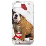 Caso del iPhone 5 del navidad del dogo iPhone 5 Case-Mate Cárcasa