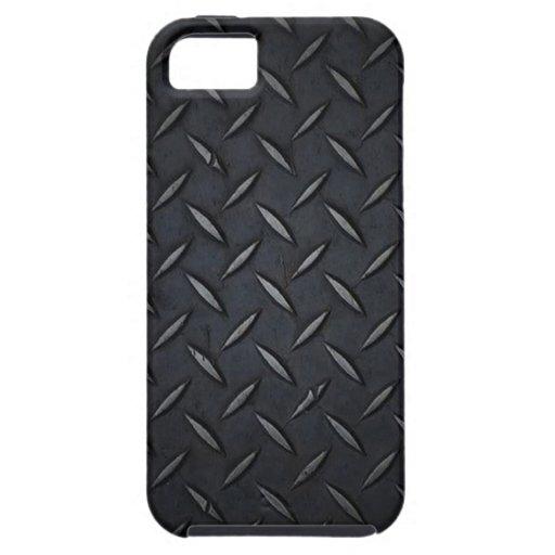 Caso del iPhone 5 del negro de la placa del diaman iPhone 5 Case-Mate Fundas