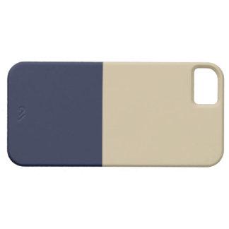 Caso del iPhone 5 del oro y de la marina de guerra iPhone 5 Protectores