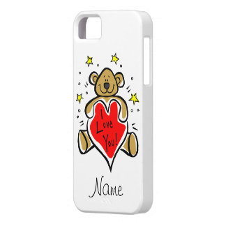 Caso del iPhone 5 del oso de peluche te amo Funda Para iPhone SE/5/5s