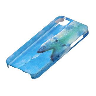 Caso del iPhone 5 del oso polar que nada y del iPhone 5 Carcasas
