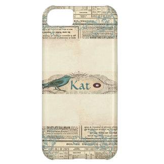 Caso del iPhone 5 del pájaro del periódico del Carcasa iPhone 5C
