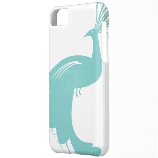 Caso del iPhone 5 del pavo real en 1201 de la Funda Para iPhone 5C