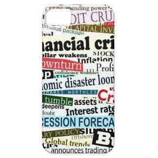 Caso del iPhone 5 del periódico de la crisis finan iPhone 5 Case-Mate Cárcasa