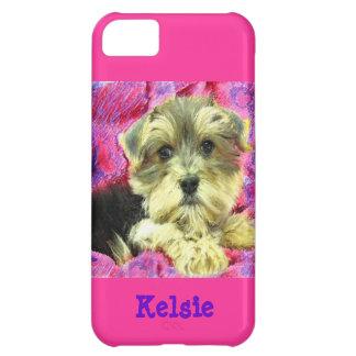 Caso del iphone 5 del perrito de Morkie Carcasa Para iPhone 5C