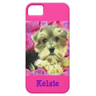 Caso del iphone 5 del perrito de Morkie Funda Para iPhone SE/5/5s