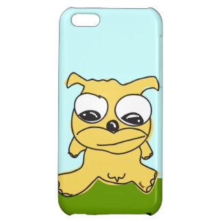 Caso del iPhone 5 del perro que camina amarillo