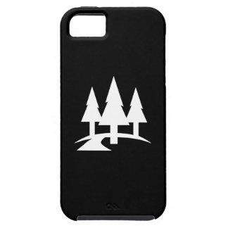 Caso del iPhone 5 del pictograma del bosque Funda Para iPhone SE/5/5s