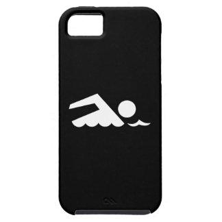 Caso del iPhone 5 del pictograma del nadador Funda Para iPhone 5 Tough