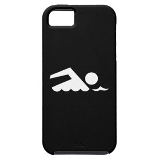 Caso del iPhone 5 del pictograma del nadador Funda Para iPhone SE/5/5s