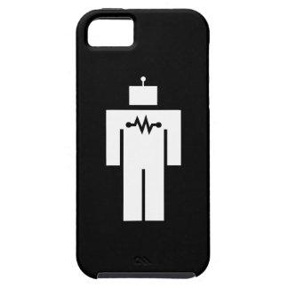 Caso del iPhone 5 del pictograma del robot iPhone 5 Fundas